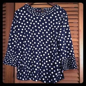 Boden Althea high neck flare cut blouse | 14